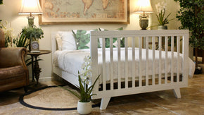 Expecting Again Package White - Chelsea Cot & Double Bed - Two pieces of furniture assembled at the SAME TIME.