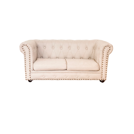 Kids Mini Chesterfield Style Couch - Beige Fabric