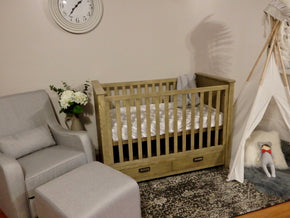 Manhattan Cot Antique Ash Stain - Floor Stock Only Available.