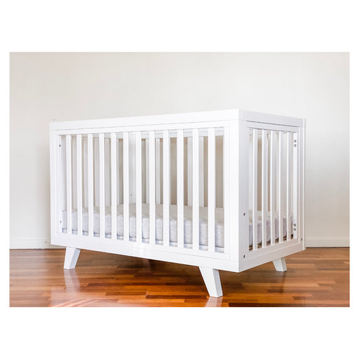 Chelsea Cot & Hampton Change Table Package in White - PRE-ARRIVAL DEAL TO COMMENCE SOON