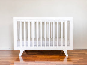 Chelsea Cot White & Innerspring Mattress Package