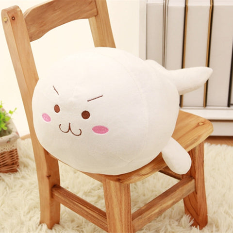 Kaomoji Plush Seal Toy