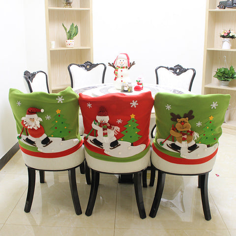 Christmas Chair Covers 3x