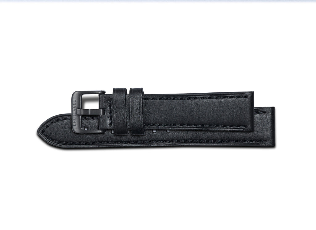 Chotovelli Black oil Leather Watch Band Strap