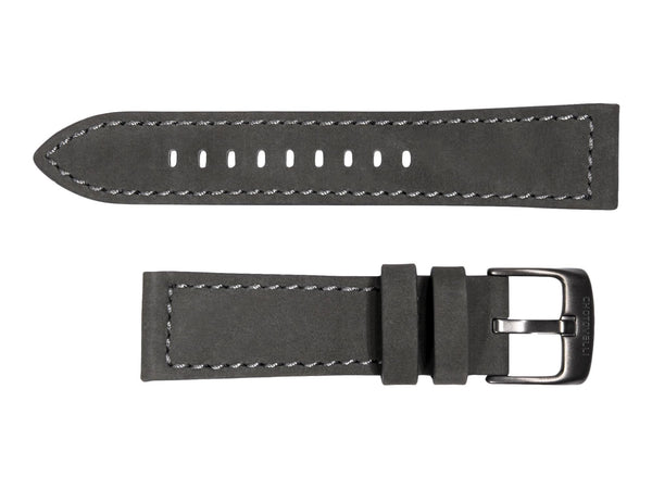 Chotovelli Grey Suede Leather Watch Band - Titanium Buckle