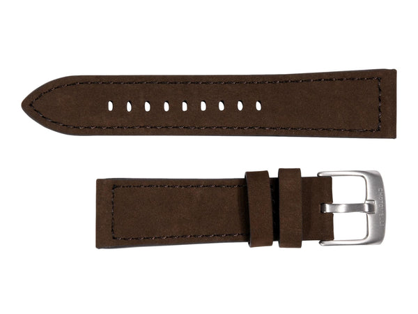 Chotovelli Brown Suede Leather Watch Band - Steel Buckle