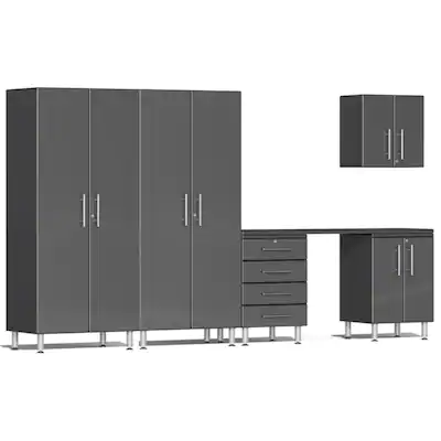 Ulti-MATE Garage Cabinet  2.0 Series 6-Piece Kit with Workstation Grey