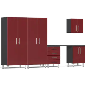 Ulti-MATE Garage Cabinet  2.0 Series 6-Piece Kit with Workstation Red