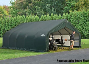 ShelterLogic ShelterCoat  18 ft. W x 24 ft. D x 10 ft. H Steel and Polyethylene Garage without Floor with Corrosion-Resistant Frame