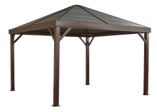 ShelterLogic Sojag South Beach Gazebo Wood Finish 12 ft. W x 12 ft. D x 10 ft. H