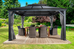 ShelterLogic Sojag Mykonos II  Double Roof Gazebo  10 ft. W x 12ft. D x 10 ft. H