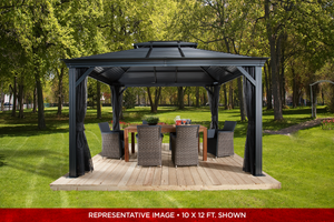 ShelterLogic Sojag Mykonos Double Roof Gazebo  12 ft. W x 14 ft. D x 10 ft. H