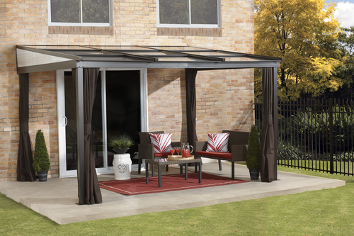 ShelterLogic Sojag Budapest Wall-Mounted Gazebo 10 ft. W x 12 ft. D x 8 ft. H