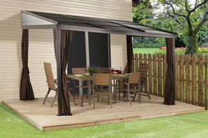 ShelterLogic Sojag Francfort Wall-Mounted Gazebo 10 ft. W x 12 ft. D x 8 ft.H