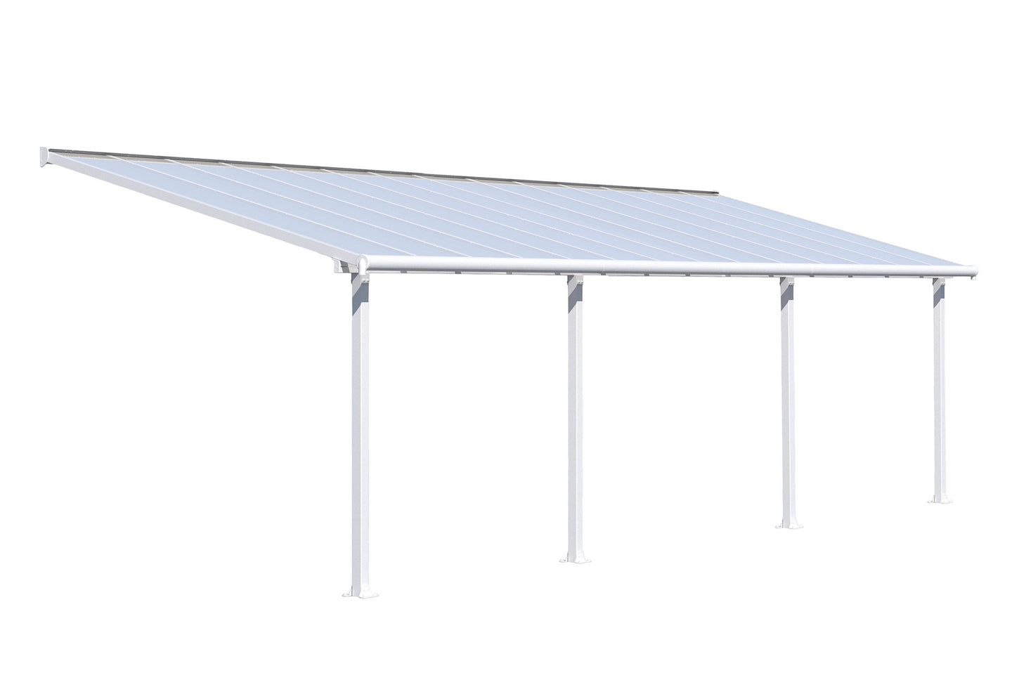 Palram Olympia 10' x 30' Patio Cover - White/white