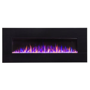 "Touchstone AudioFlare Black Glass  50"" Recessed Electric Fireplace 80035"