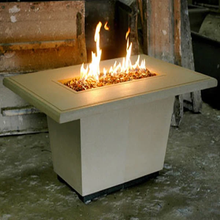 American Fyre Designs Cosmopolitan Rectangle Gas Fire Pit Table