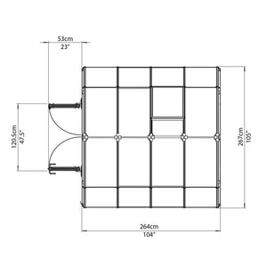 Rion Prestige 2 Clear 8' x 8' Greenhouse