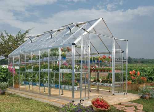 Palram Snap & Grow 8' x 16' Greenhouse - Silver