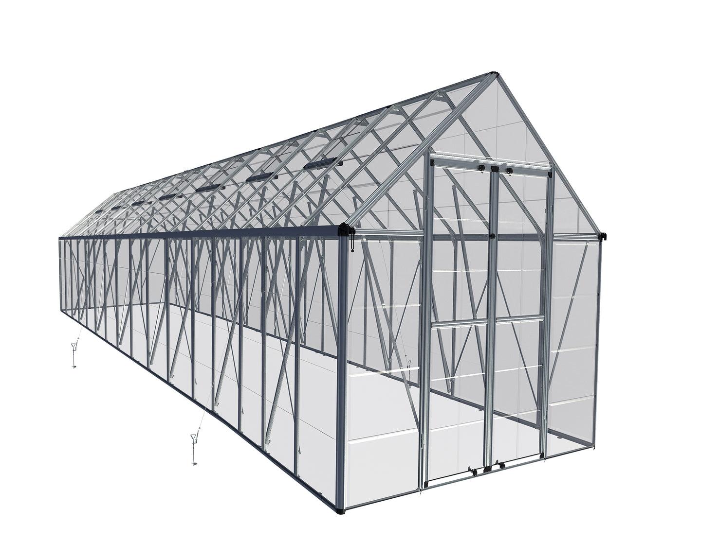 Palram Snap & Grow 8' x 32' Greenhouse - Silver