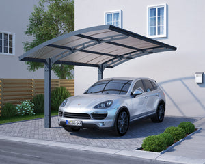Palram Arizona Wave 5000 Carport 9.84' L x 16.23' W x 8.9' H