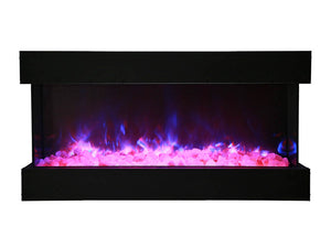 "Amantii TRU-VIEW 40"" Indoor /Outdoor 3-Sided Electric Fireplace (40-TRU-VIEW-XL)"