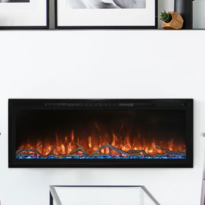 "Modern Flames 74"" Spectrum Slimline Wall Mount or Recessed Electric Fireplace"