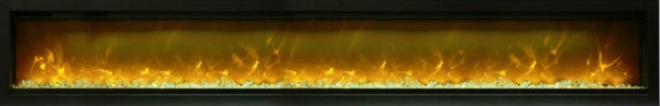 Amantii SYMMETRY Built-in Electric Fireplace with Two Flame Styles and Touchpad