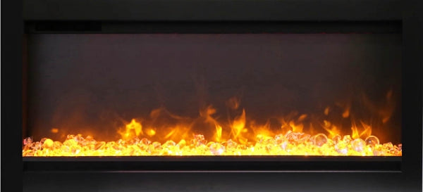 Amantii SYMMETRY B Built-in Electric Fireplace with FIRE & ICE Flame Only