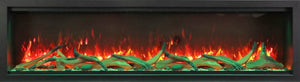 Amantii SYMMETRY XT Built-in Electric Fireplace with FIRE & ICE and Canopy Lighting