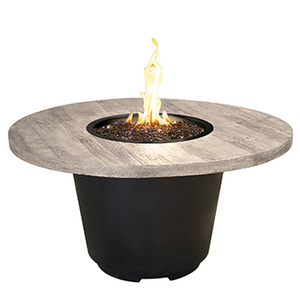 American Fyre Designs Silver Pine Cosmo Round Firetable