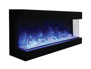 "Amantii TRU-VIEW 60"" Indoor /Outdoor 3-Sided Electric Fireplace (60-TRU-VIEW-XL)"