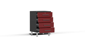 Ulti-MATE Garage Cabinet 2.0 Series 8-Piece Kit with Bamboo Worktop Red