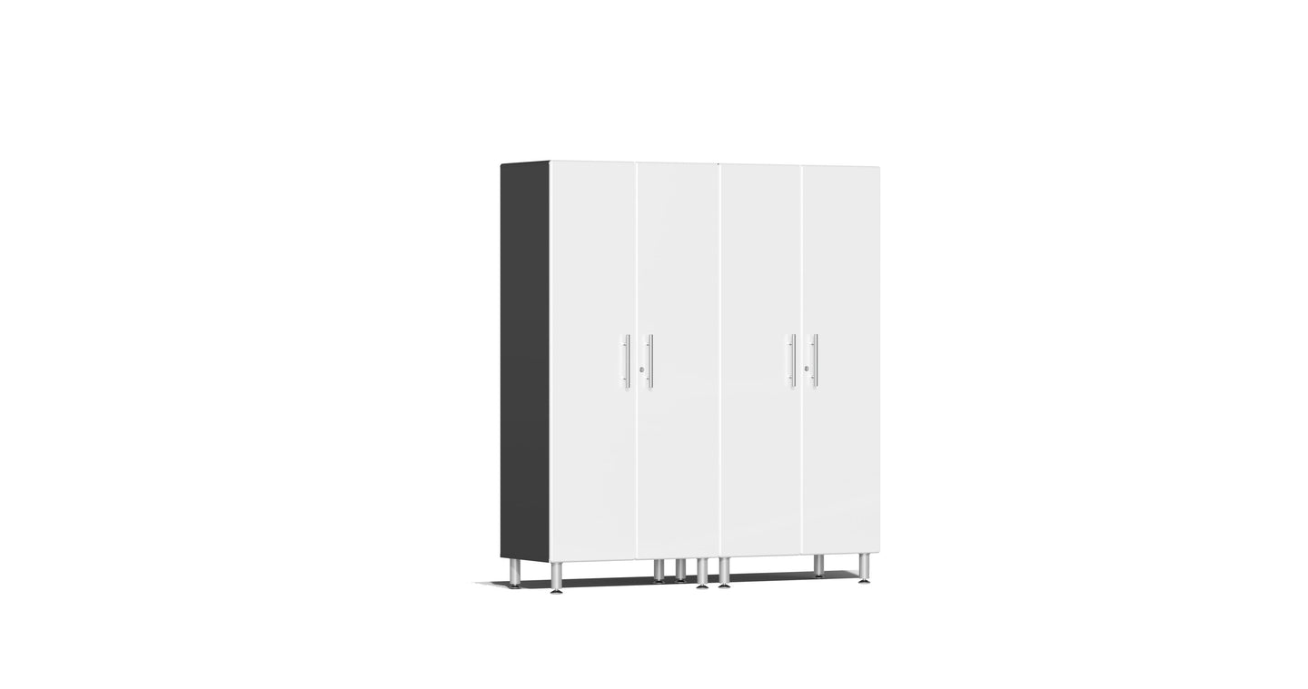 Ulti-MATE Garagee Cabinet 2.0 Series 2-Pc Tall Cabinet Kit White