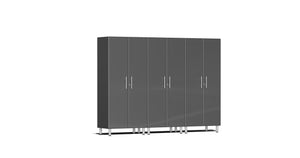 Ulti-MATE Garagee Cabinet 2.0 Series 3-Pc Tall Cabinet Kit Gray