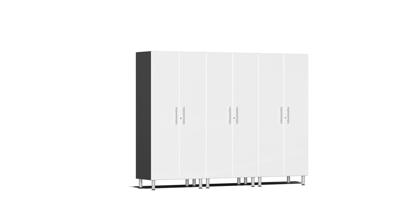 Ulti-MATE Garage Cabinet 2.0 Series 3-Pc Tall Cabinet Kit White