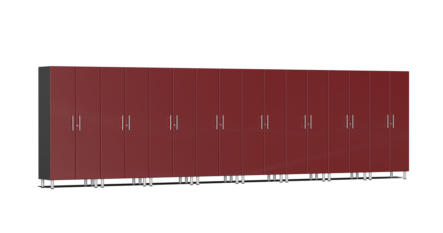 Ulti-MATE Garage Cabinet 2.0 Series 8-Piece Tall Cabinet Kit Red