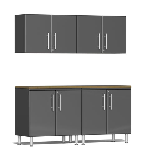 Ulti-MATE Garage Cabinet 2.0 Series 5-Piece Workstation Kit Gray