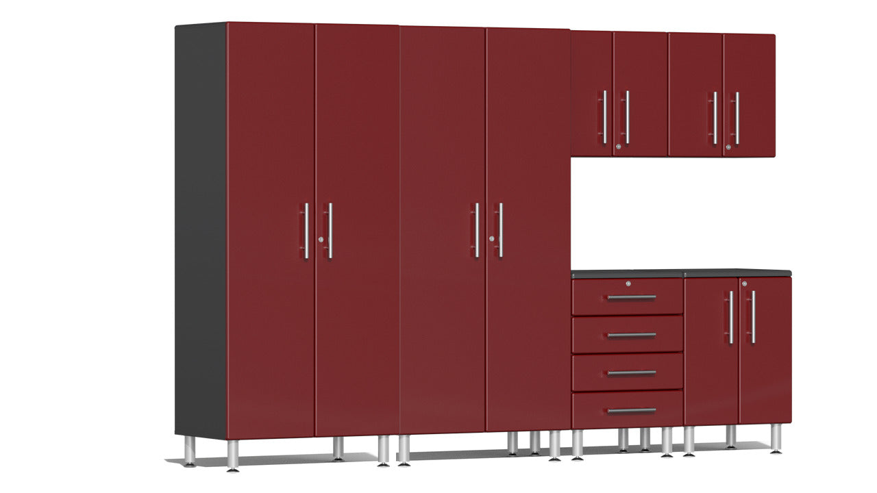 Ulti-MATE Garage Cabinet 2.0 Series 6-Piece Kit Red