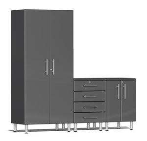 Ulti-MATE Garage Cabinet 2.0 Series 3-Piece Set Gray