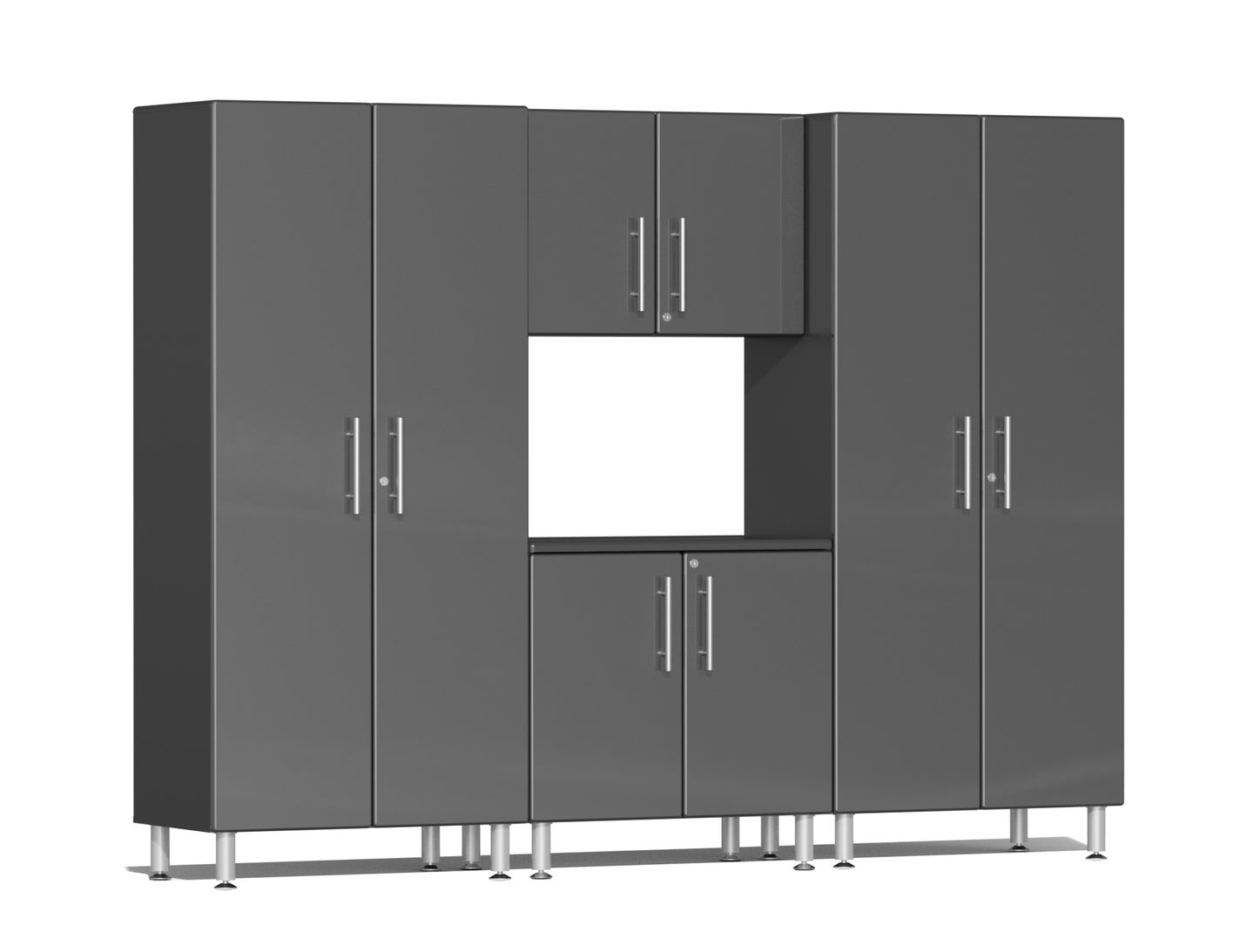 Ulti-MATE Garage Cabinet 2.0 Series 4-Piece Kit Gray
