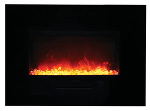 "Amantii 35"" Built-in /Wall Mounted Electric Fireplace (WM-FM-26-3623-BG)"