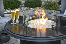 The Outdoor Greatroom Company Black Granite Beacon Chat Height Gas Fire Pit Table
