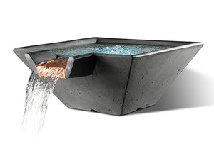 Slick Rock Cascade Square Water Bowl