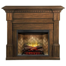 "Dimplex Christina 56"" Electric Fireplace and Mantel Package - Burnished Walnut Finish"