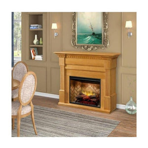 "Dimplex Christina 56"" Electric Fireplace and Mantel Package - Rift Oak Finish"