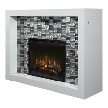 "Dimplex Crystal 58"" Electric Fireplace and Mantel Package"