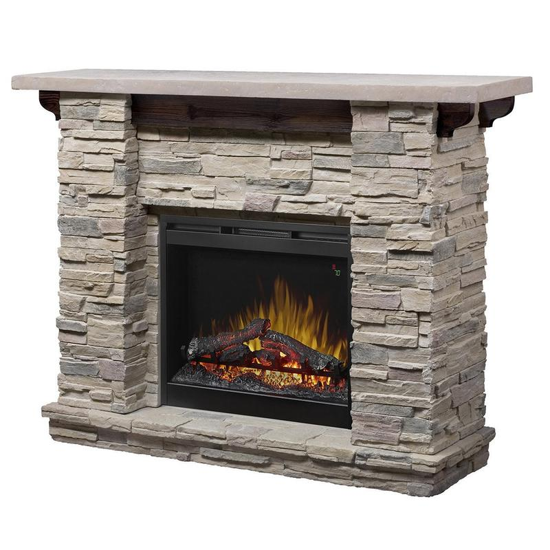 Dimplex Featherstone Electric Fireplace and Mantel Package