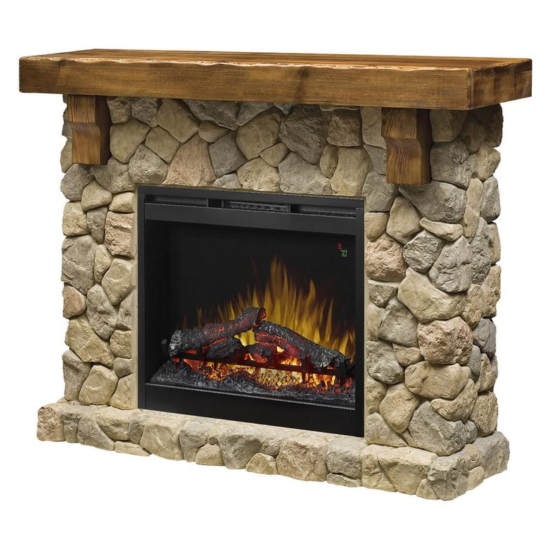 Dimplex Fieldstone Electric Fireplace and Mantel Package