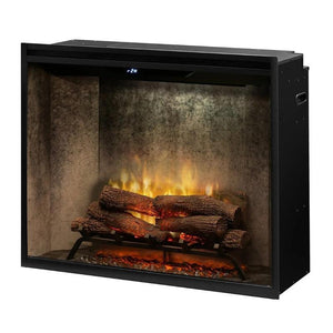 "Dimplex Revillusion™ 36"" - Weathered Concrete -  Built-in Electric Firebox, UL Listed"